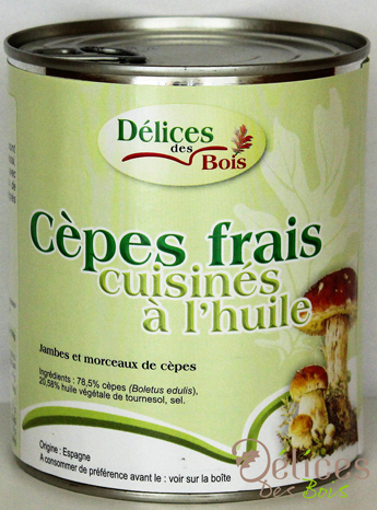 Champignon appertisé cèpes frais